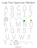 Leap Year Uppercase Alphabet Coloring Page