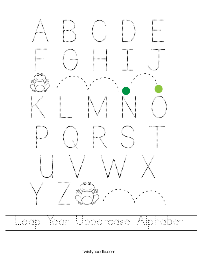 Leap Year Uppercase Alphabet Worksheet