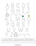 Leap Year Uppercase Alphabet Handwriting Sheet