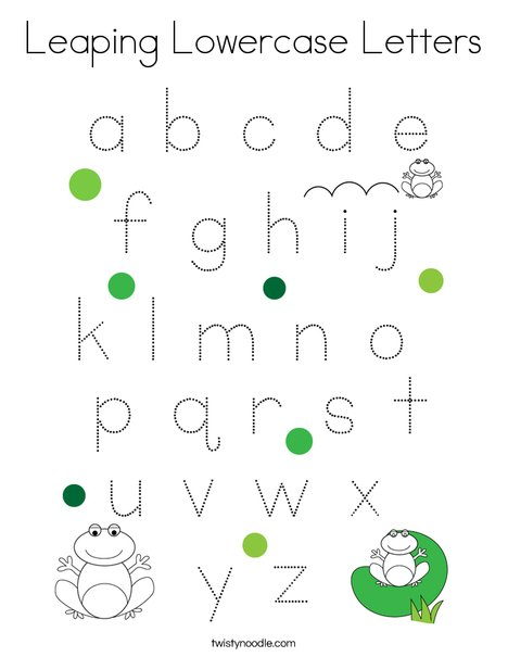 Leaping Lowercase Letters Coloring Page