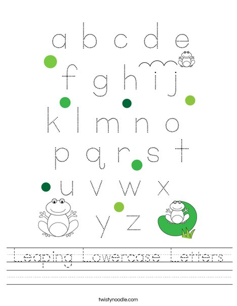 Leaping Lowercase Letters Worksheet