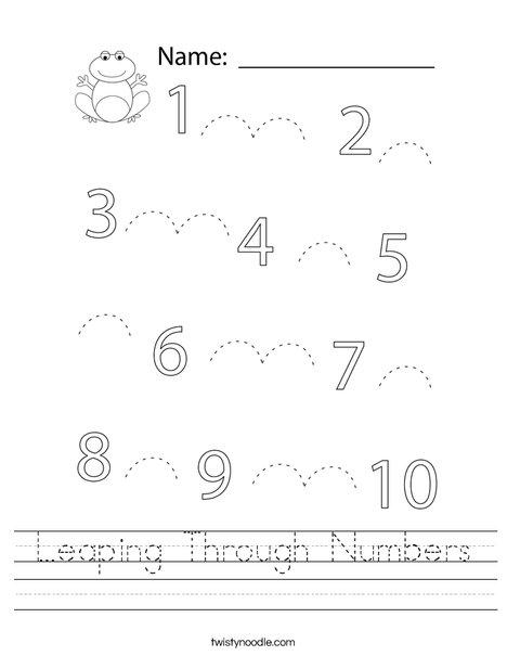 Leaping Through Numbers Worksheet
