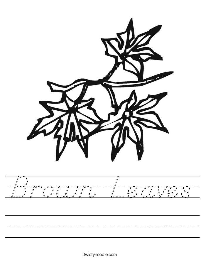 Brown Leaves Worksheet