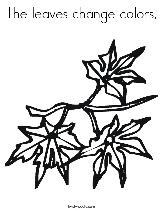 The leaves change colors. Coloring Page