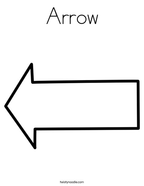 picture about Printable Arrow known as Arrow Coloring Website page - Twisty Noodle