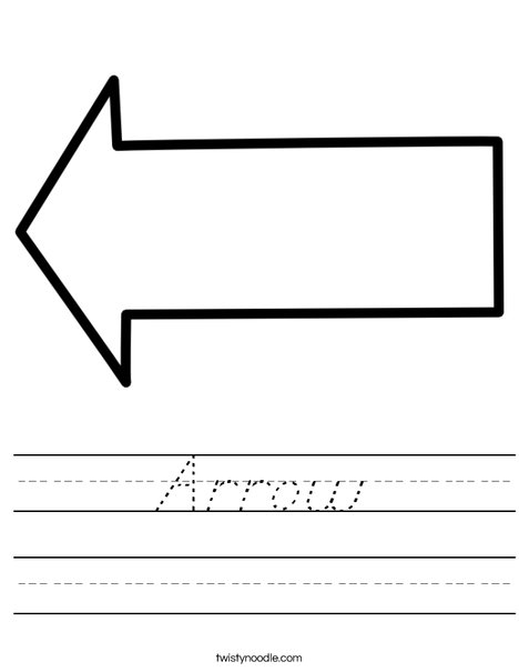 Left Arrow Worksheet