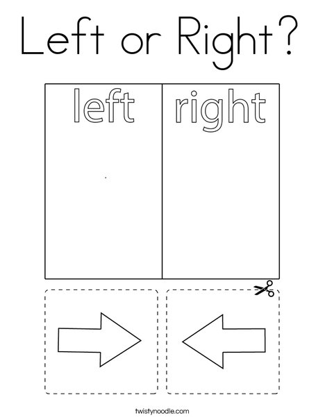 Left or Right? Coloring Page