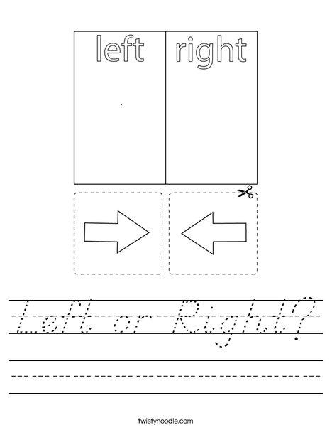 Left or Right? Worksheet