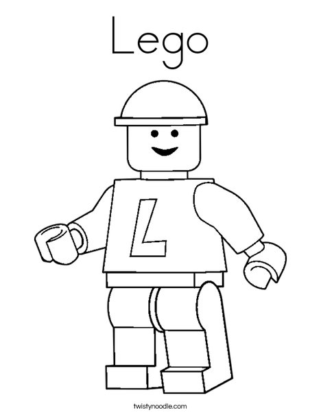 Lego Coloring Page