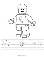 My Lego Party Handwriting Sheet