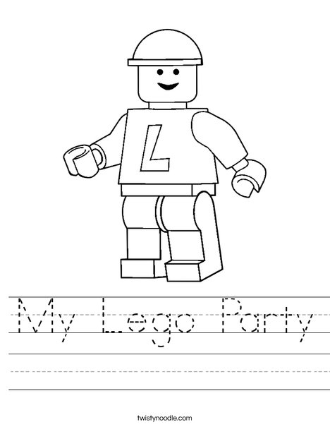 Lego Worksheet