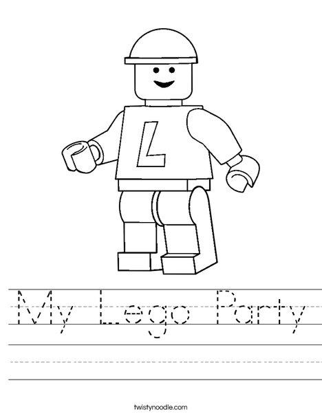 My Lego Party Worksheet - Twisty Noodle