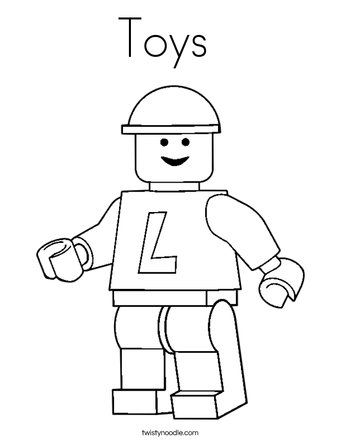 coloring book pages toys - photo#22