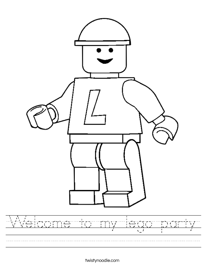 Welcome to my lego party Worksheet
