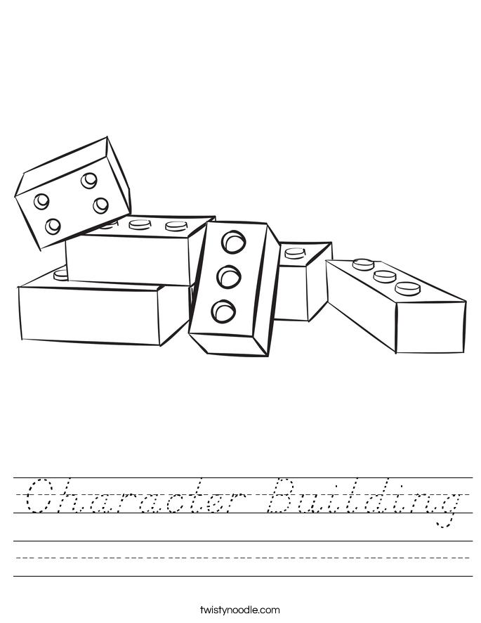 Character Building Worksheet