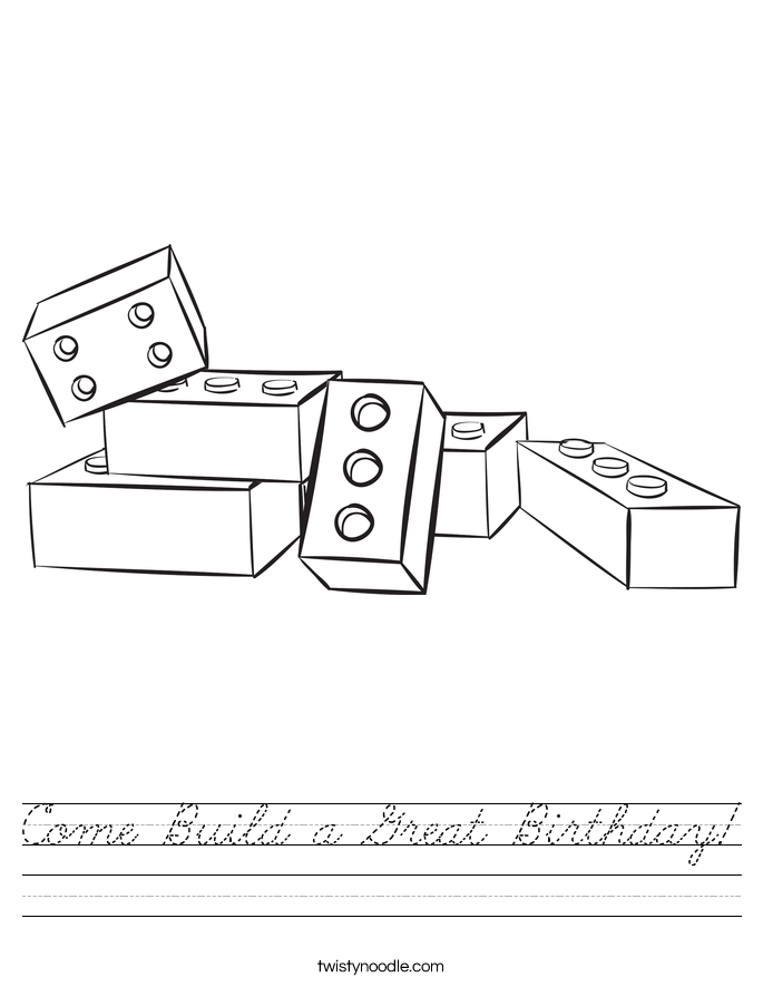 Come Build a Great Birthday! Worksheet