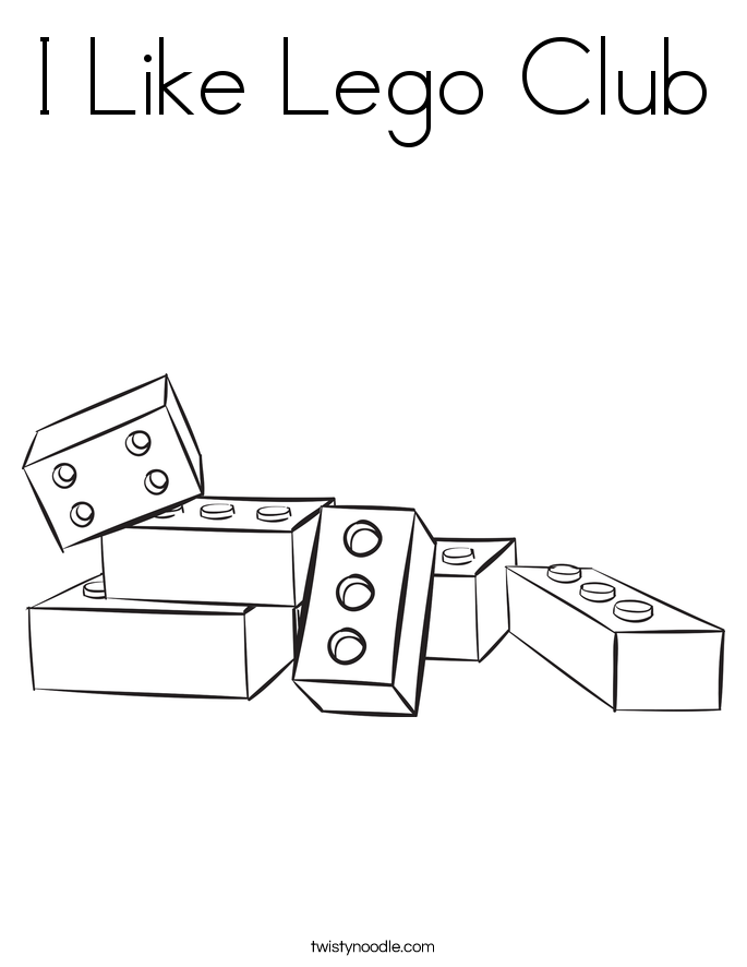 I Like Lego Club Coloring Page