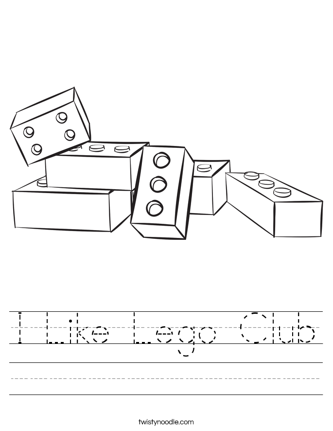 I Like Lego Club Worksheet