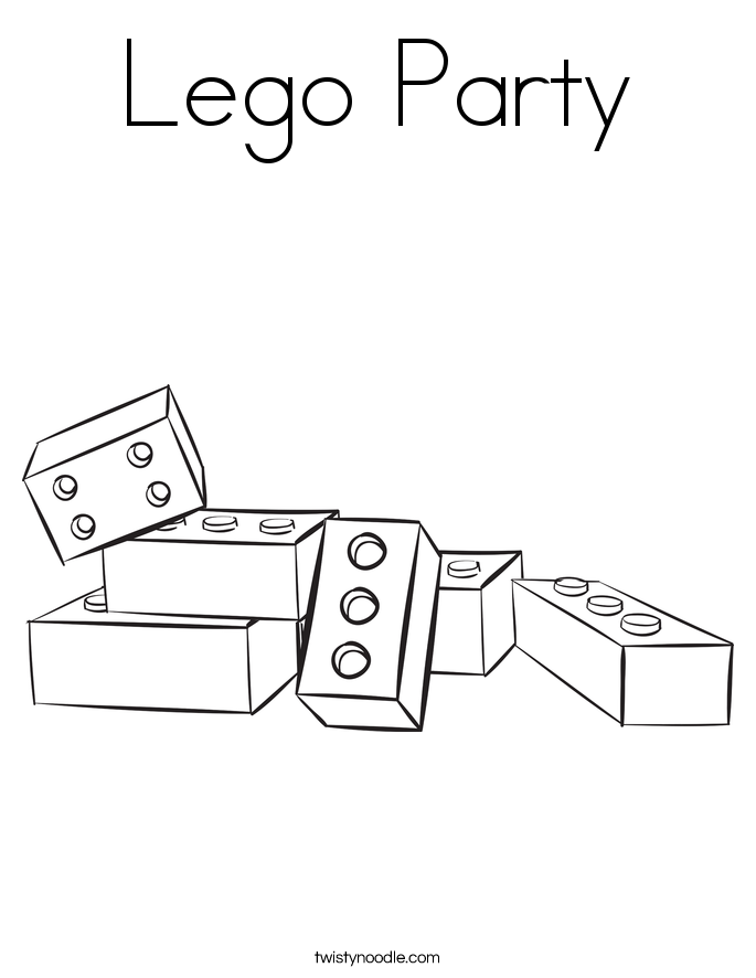 Lego Party Coloring Page