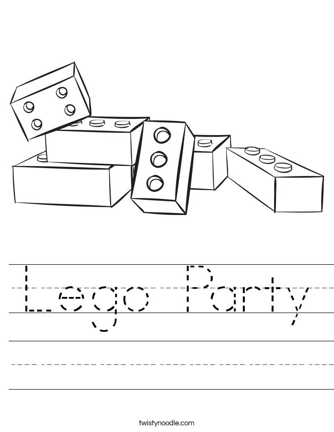 Lego Party Worksheet