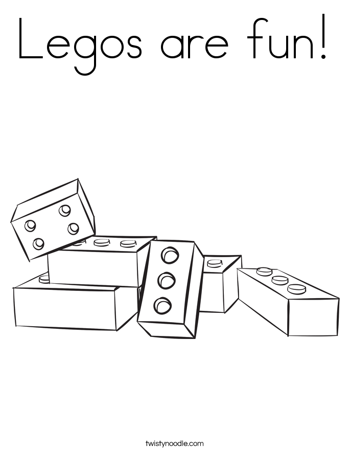 Legos are fun! Coloring Page