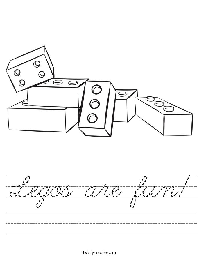 Legos are fun! Worksheet