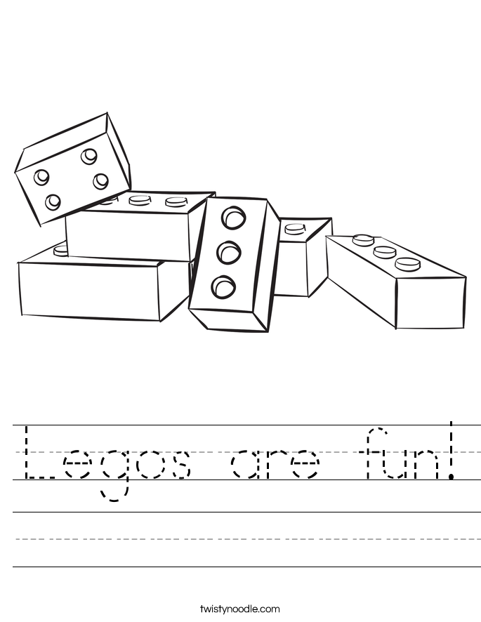 Legos are fun! Worksheet