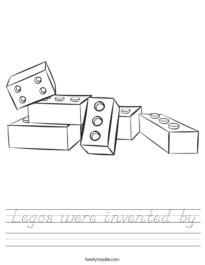 Legos were invented by Worksheet