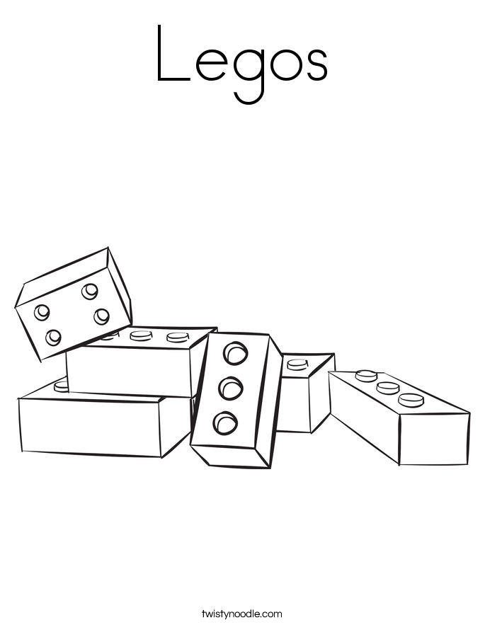 Lego Brick Coloring Page Coloring Pages