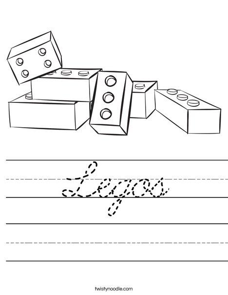 Legos Worksheet