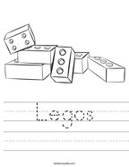 Legos Handwriting Sheet