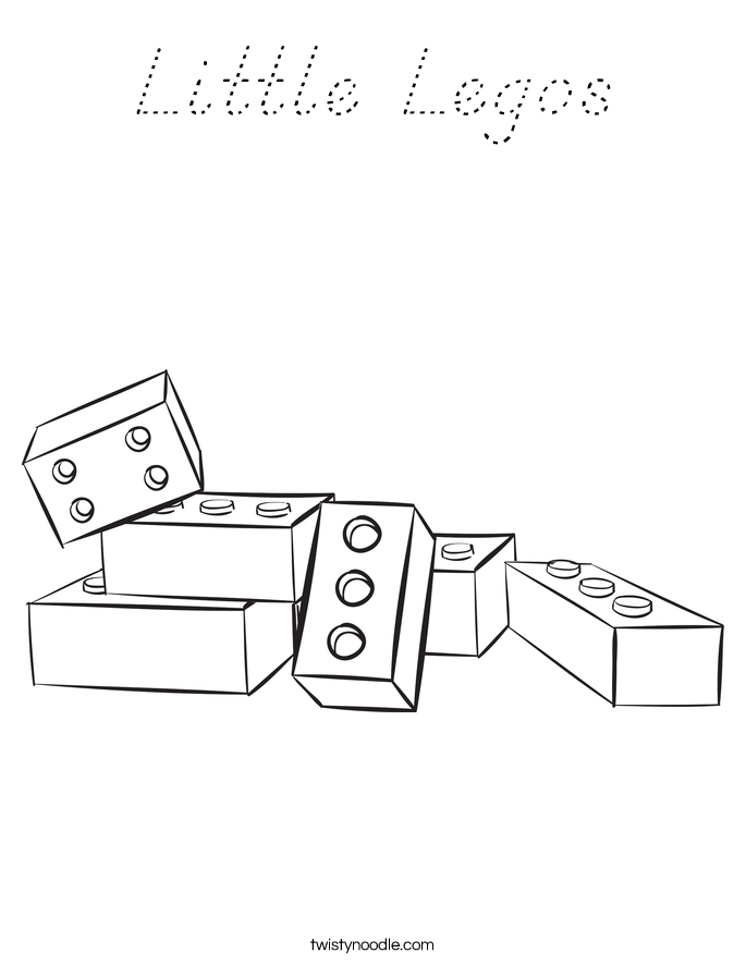 Little Legos Coloring Page