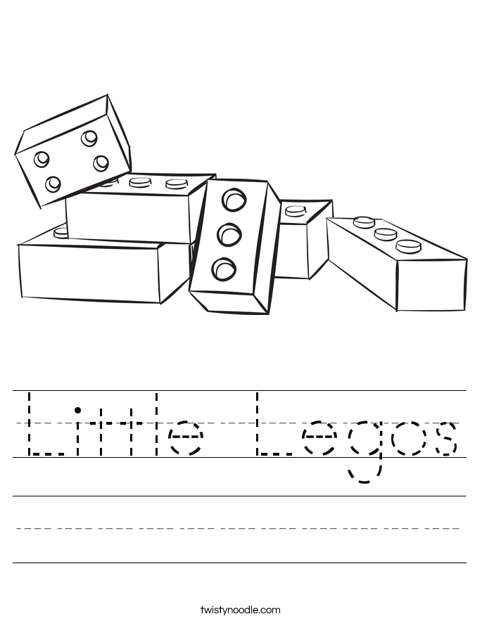 Little Legos Worksheet