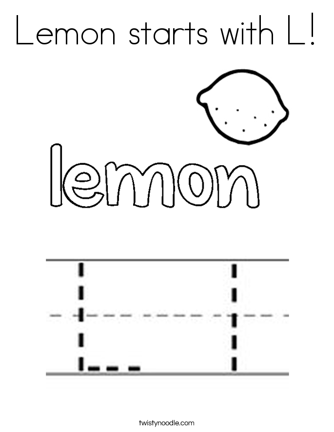 Lemon starts with L! Coloring Page