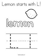Lemon starts with L Coloring Page