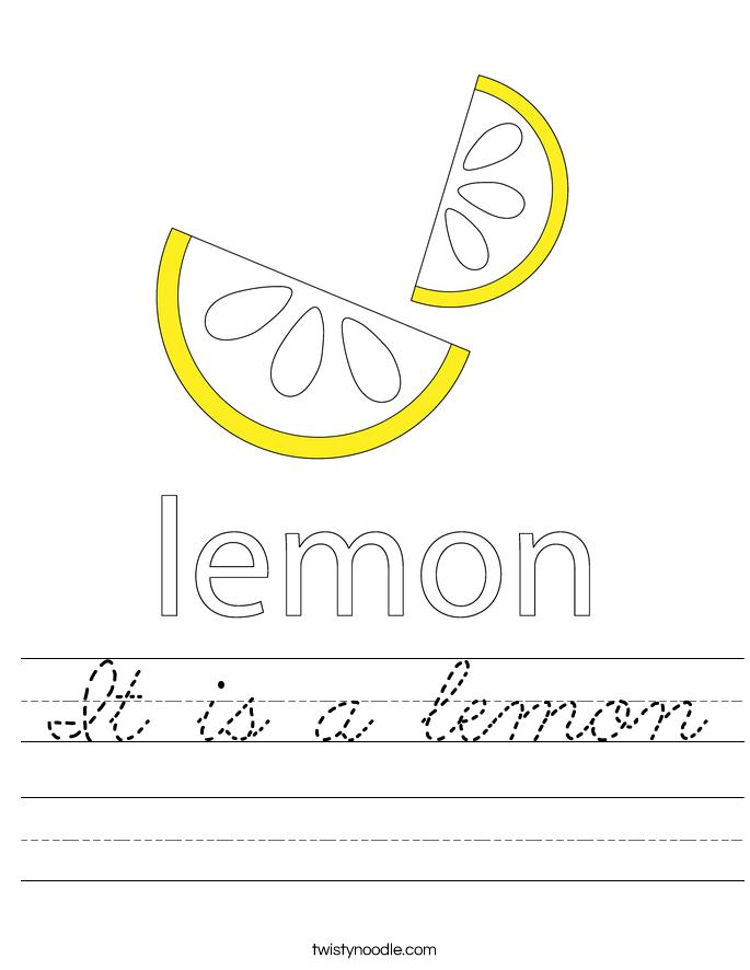 It is a lemon Worksheet