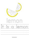 It is a lemon Worksheet