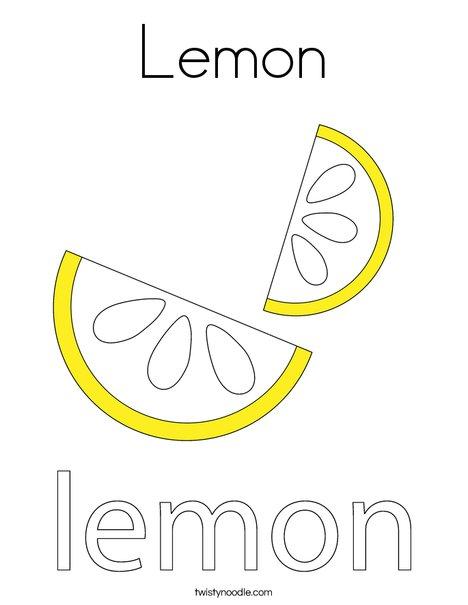 Lemon Coloring Page Twisty Noodle