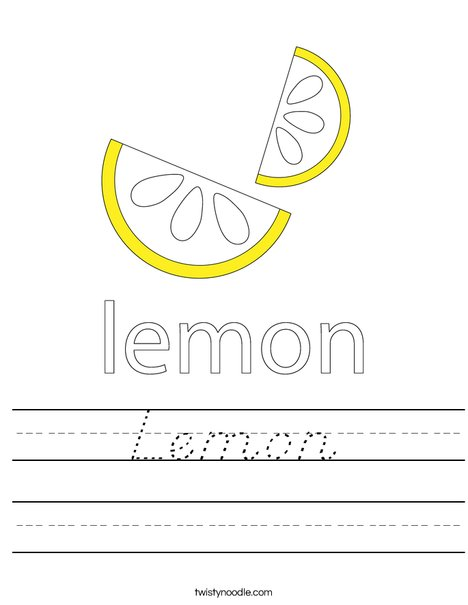 Lemon Worksheet