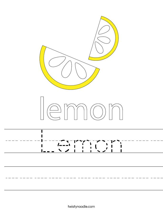 Lemon Worksheet