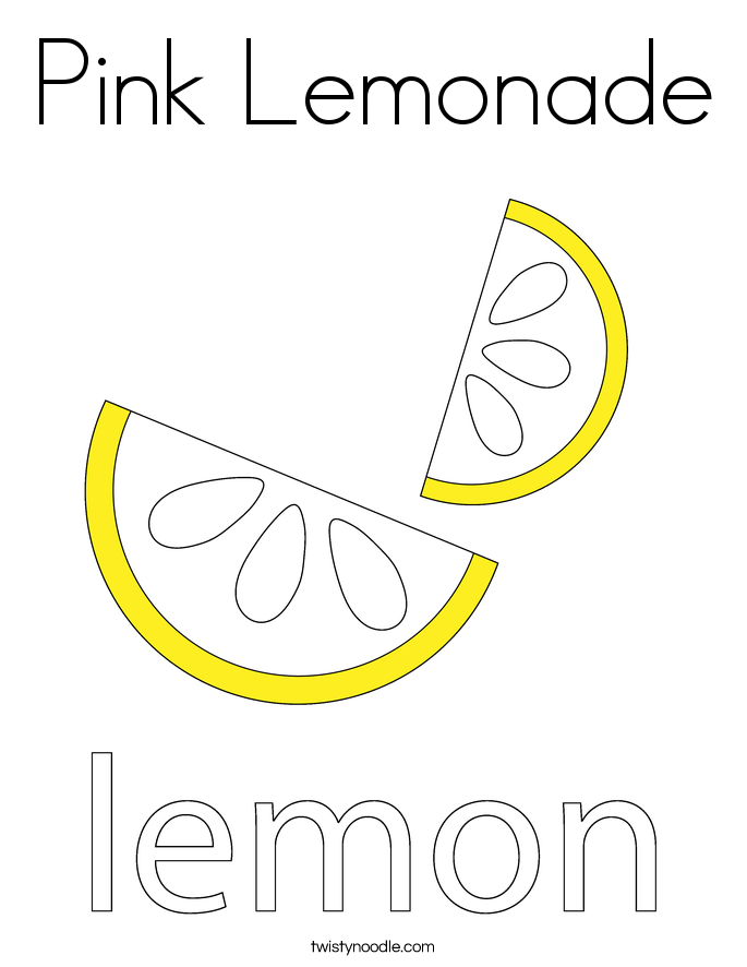 Pink Lemonade Coloring Page