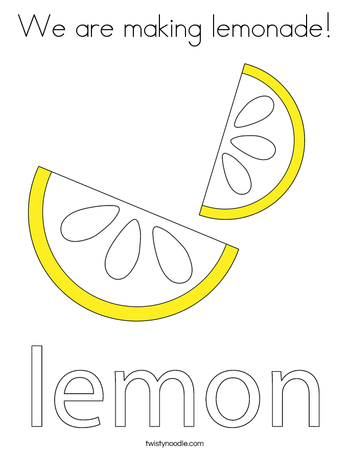 We are making lemonade! Coloring Page