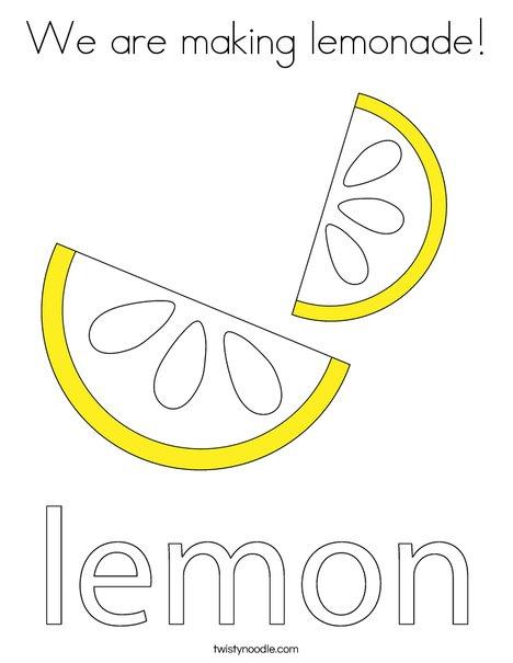 Lemon Coloring Page