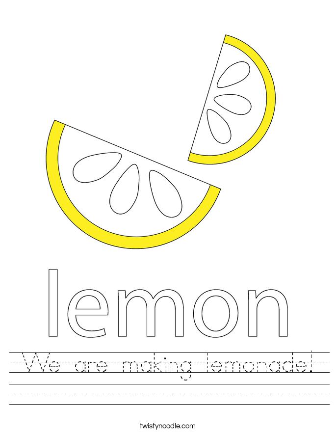 We are making lemonade! Worksheet