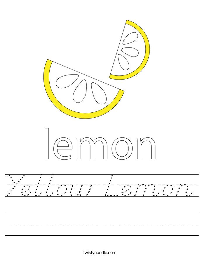 Yellow Lemon Worksheet