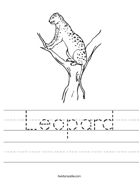 Leopard Worksheet
