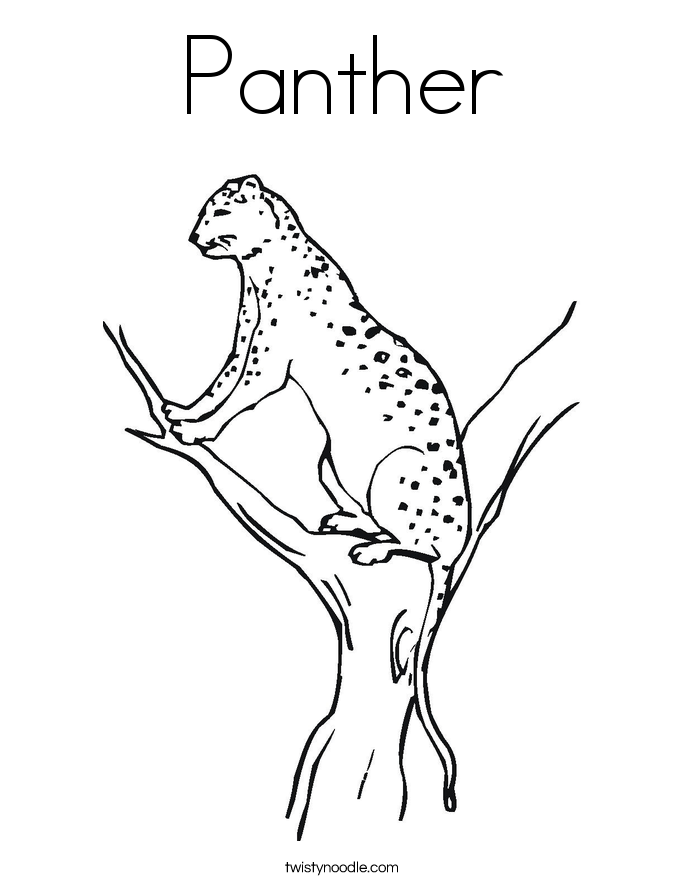 Panther Coloring Page Twisty Noodle