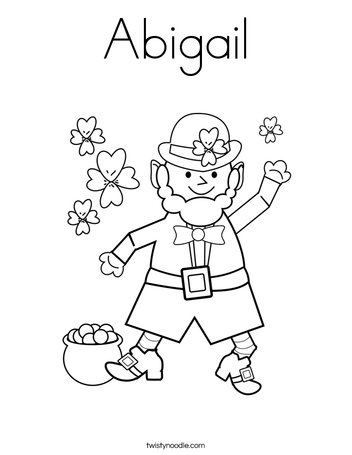 abigail coloring pages - photo#10