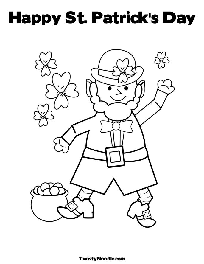 st patricks dat coloring pages - photo#33