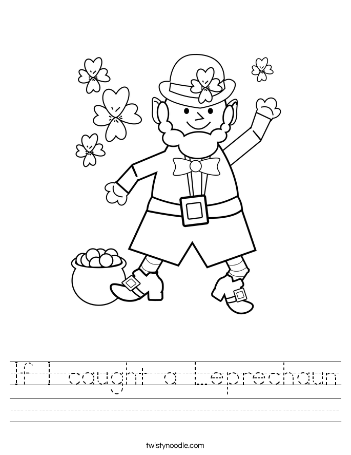 If I caught a Leprechaun Worksheet